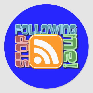 Stop Following Me! RSS Icon Button Design Stickers