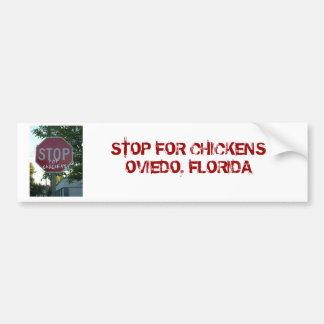 Stop for Chickens Bumper Sticker Car Bumper Sticker