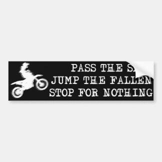 Stop For Nothing Dirt Bike Motocross Bumper Sticke Bumper Sticker