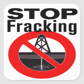 Stop Fracking Everywhere Square Stickers