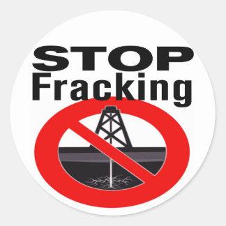 Stop Fracking Round Sticker