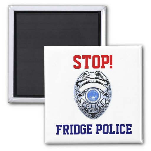 Stop! Fridge Police Magnet