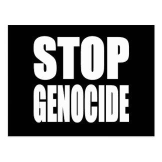Stop Genocide. Protest Message. Postcard