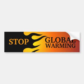 """Stop Global Warming"" bumper sticker"