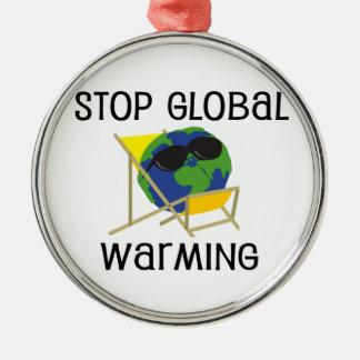 Stop Global Warming Christmas Ornament