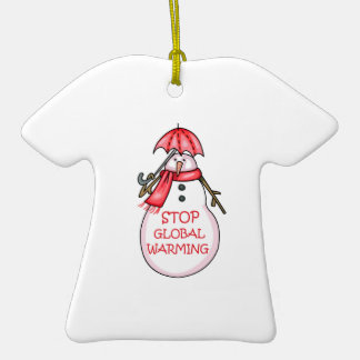 STOP GLOBAL WARMING ORNAMENTS