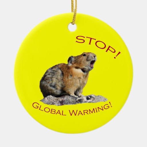 Stop Global Warming Christmas Ornaments