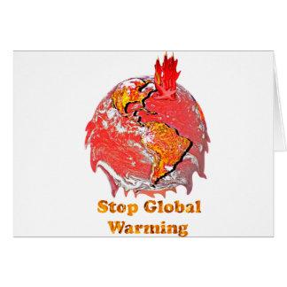Stop Global Warming Greeting Card