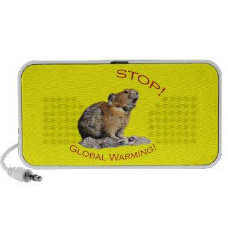 stop global warming iPod speaker