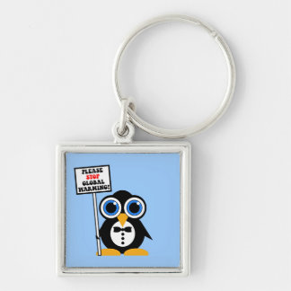 stop global warming key chain