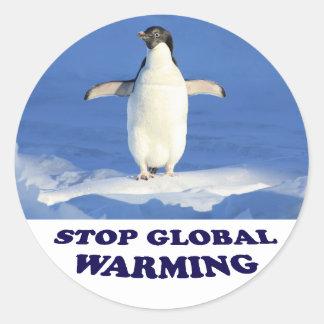 Stop Global Warming multiply siroki.png Round Sticker
