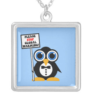 stop global warming personalized necklace