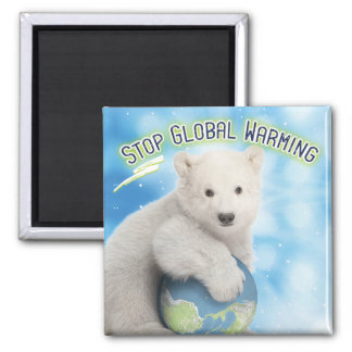 Stop Global Warming Polar Bear Magnet