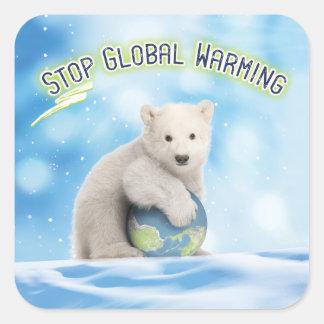 Stop Global Warming Polar Bear Stickers