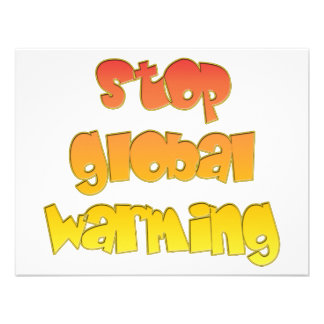 Stop Global Warming products Personalized Invite