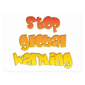 Stop Global Warming products! Postcard