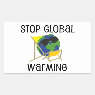 Stop Global Warming Rectangular Sticker