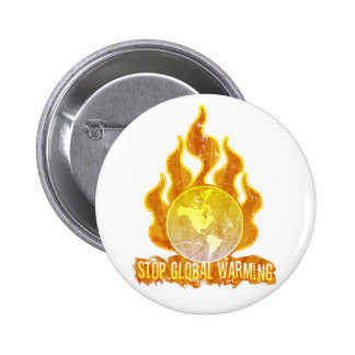 Stop Global Warming Round Button