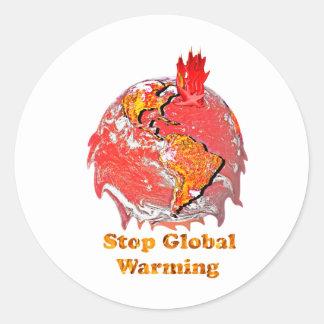 Stop Global Warming Round Sticker