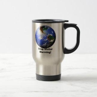 Stop Global Warming! Stainless Steel Travel Mug