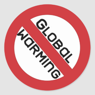stop global warming Sticker