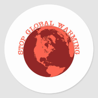 Stop Global Warming Round Stickers