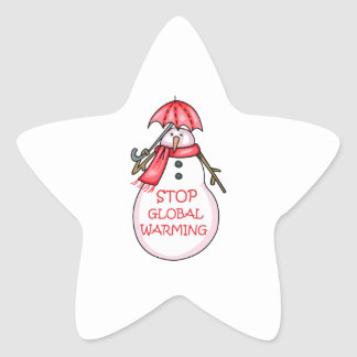 STOP GLOBAL WARMING STAR STICKER
