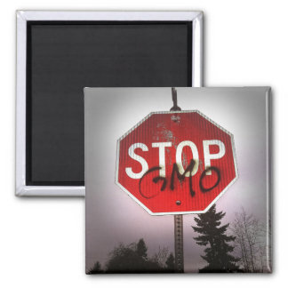 Stop GMO's Stop Sign Magnet