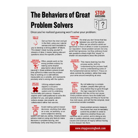 "Stop Guessing Behaviours Poster, 24"" x 36"" Poster"