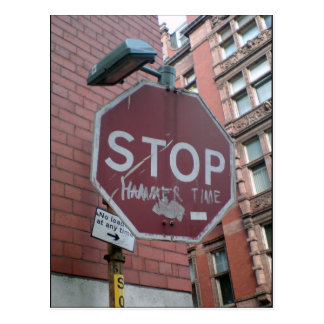 Stop Hammer Time Postcard