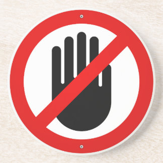 Stop Hand Symbol Coaster