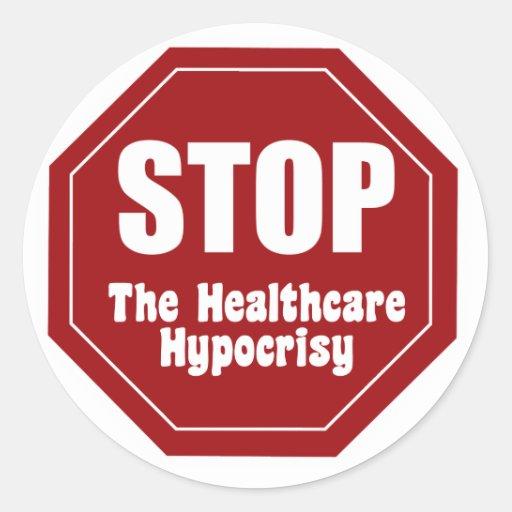 Stop Healthcare Hypocrisy Stickers