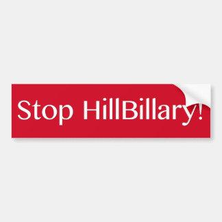 Stop HillBillary Bumper Sticker