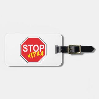 Stop Hipaa Luggage Tag