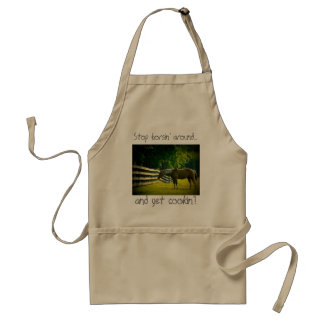 stop horsin' around and get cookin' apron
