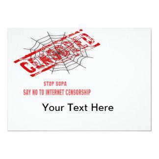 Stop Internet Censorship 13 Cm X 18 Cm Invitation Card