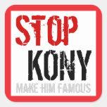 Stop Kony Square Sticker - Large