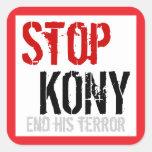 Stop Kony Square Sticker - Large #2