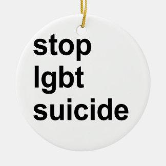 stop lgbt suicide round ceramic decoration
