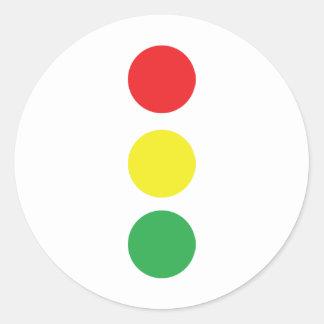 stop light icon classic round sticker