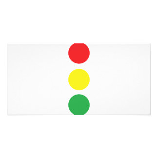 stop light icon personalised photo card