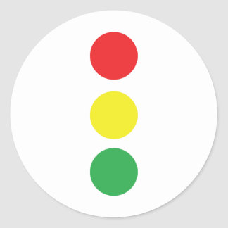 stop light icon round sticker