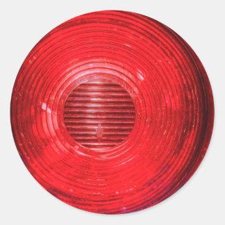 Stop Light Round Sticker