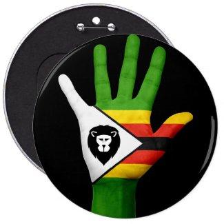 Stop Lion Poaching in Zimbabwe 6 Cm Round Badge