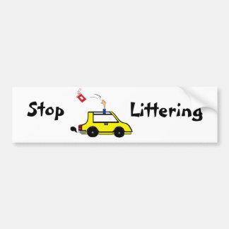 Stop Littering bumper sticker