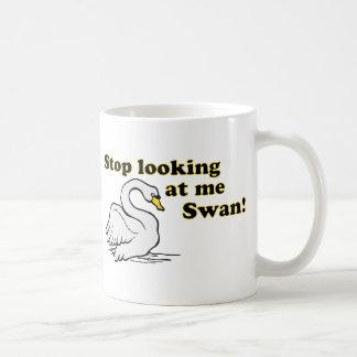 Stop looking at me swan basic white mug