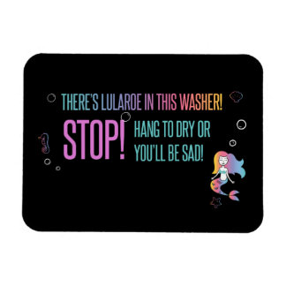 Stop! Lula care magnetic card to washer Magnet