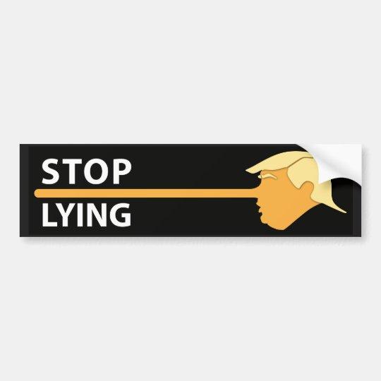Stop Lying (on black) Bumper Sticker