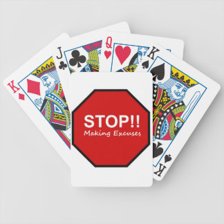 Stop Making Excuses Playing Cards