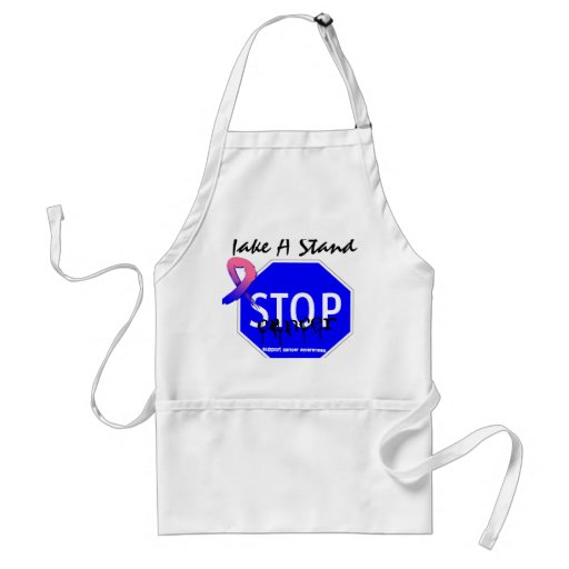 Stop Male Breast Cancer Take A Stand Apron